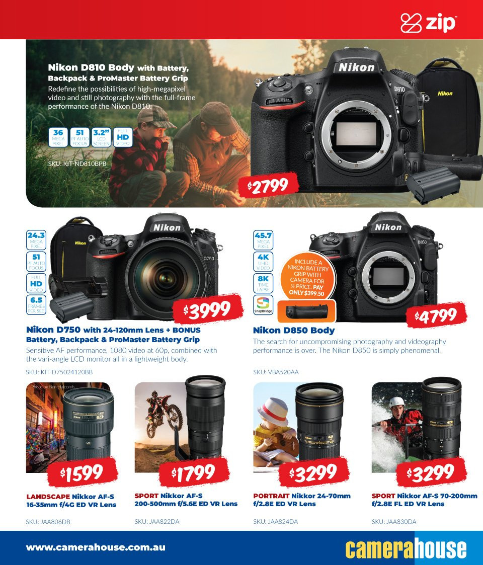 Camera House catalogue  - 6.8.2018 - 2.9.2018. Page 7.
