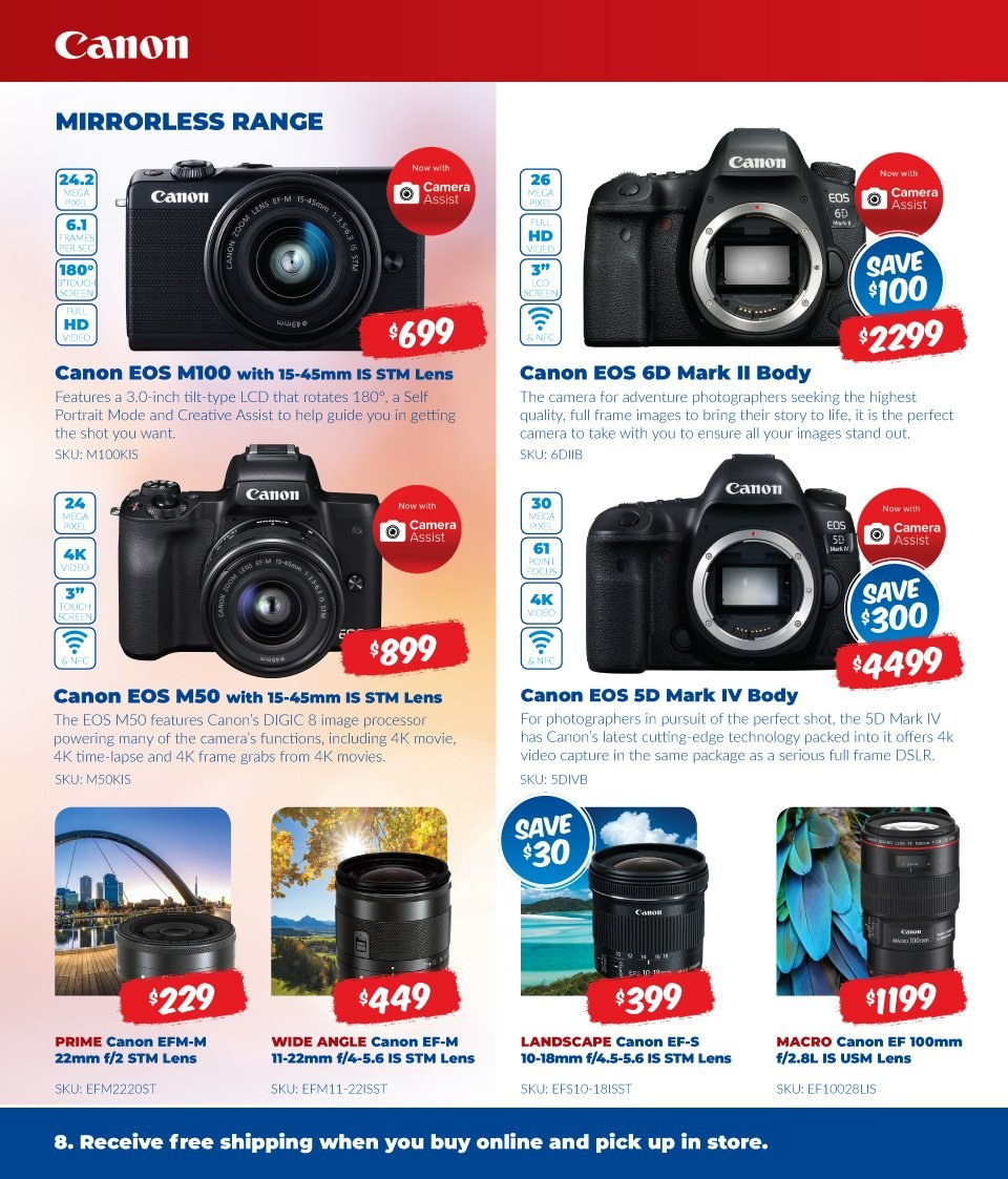 Camera House catalogue  - 6.8.2018 - 2.9.2018. Page 8.