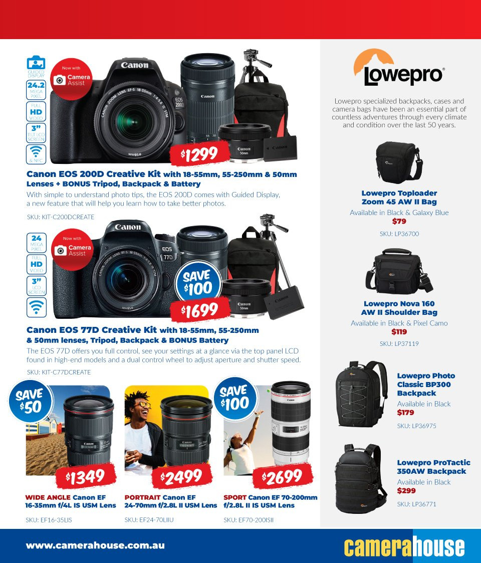 Camera House catalogue  - 6.8.2018 - 2.9.2018. Page 9.