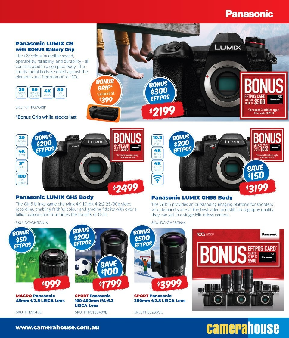 Camera House catalogue  - 6.8.2018 - 2.9.2018. Page 11.