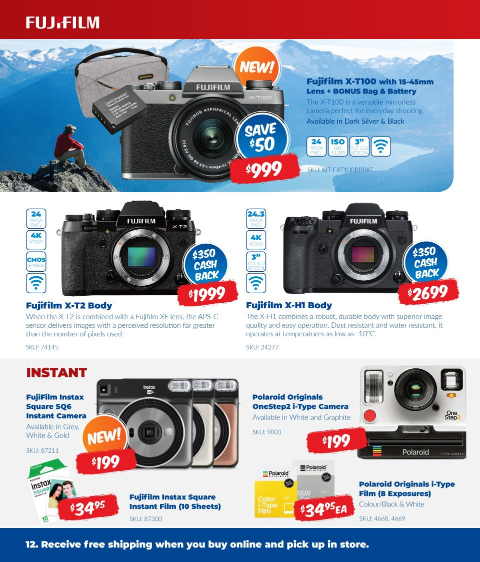 Camera House catalogue  - 6.8.2018 - 2.9.2018. Page 12.