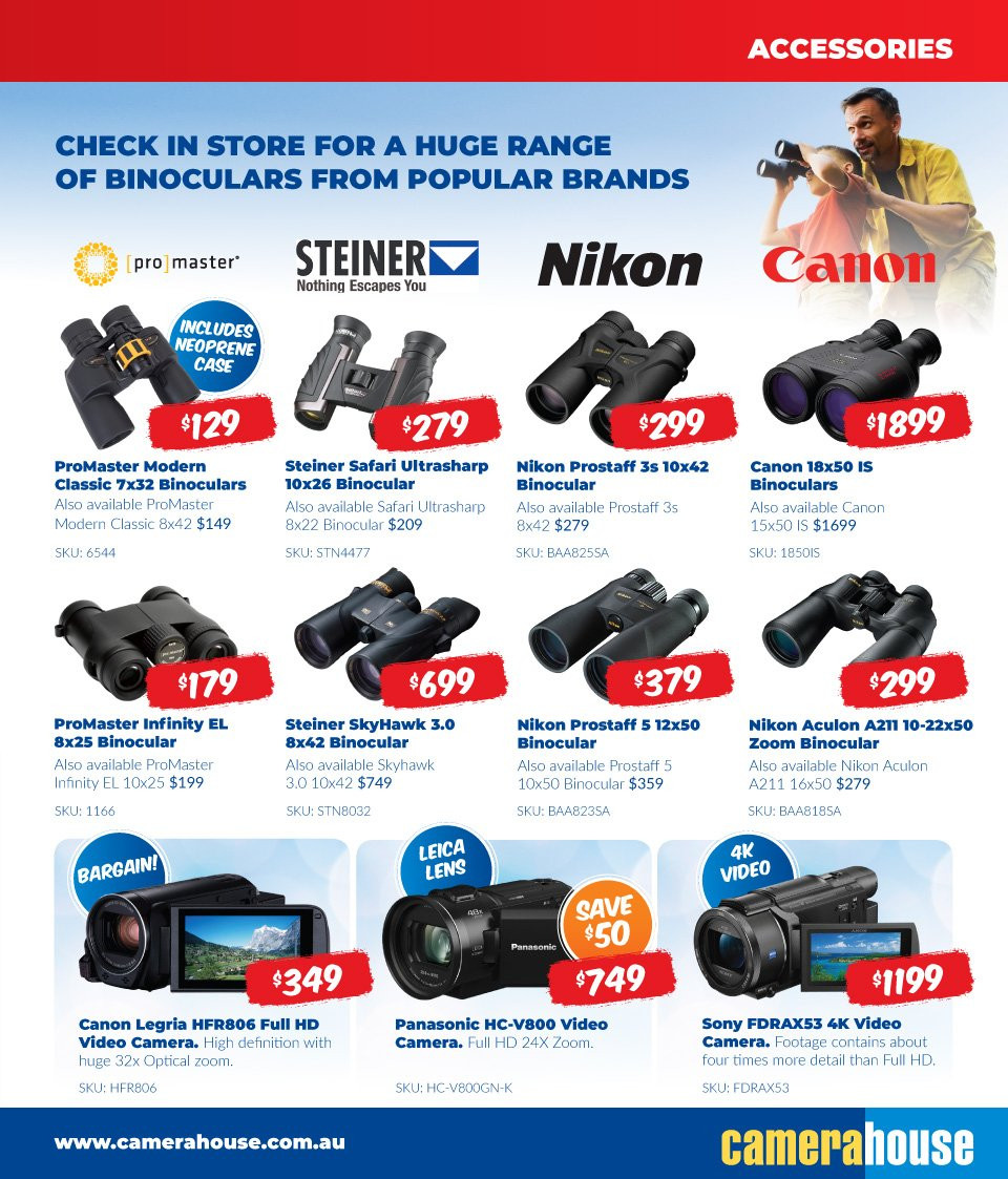 Camera House catalogue  - 6.8.2018 - 2.9.2018. Page 13.
