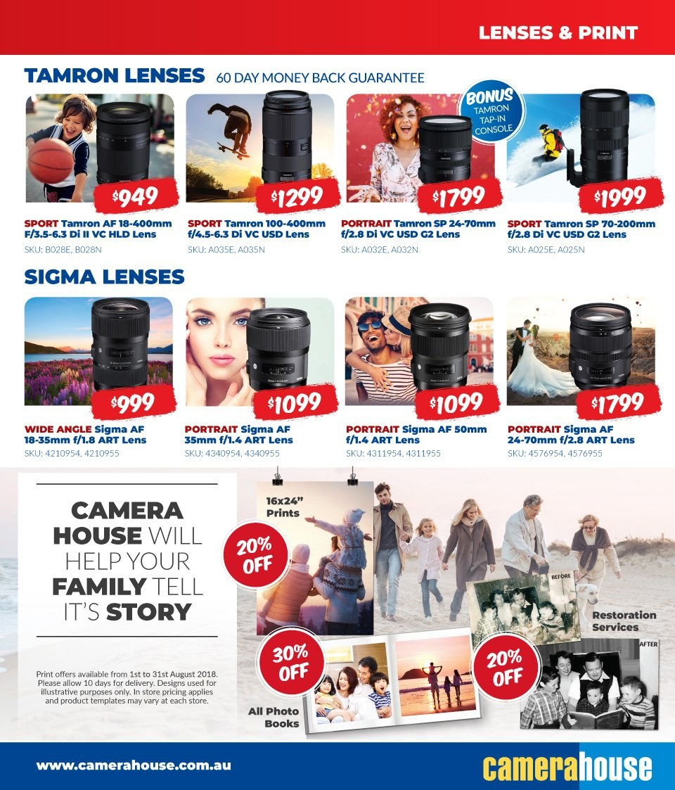 Camera House catalogue  - 6.8.2018 - 2.9.2018. Page 15.