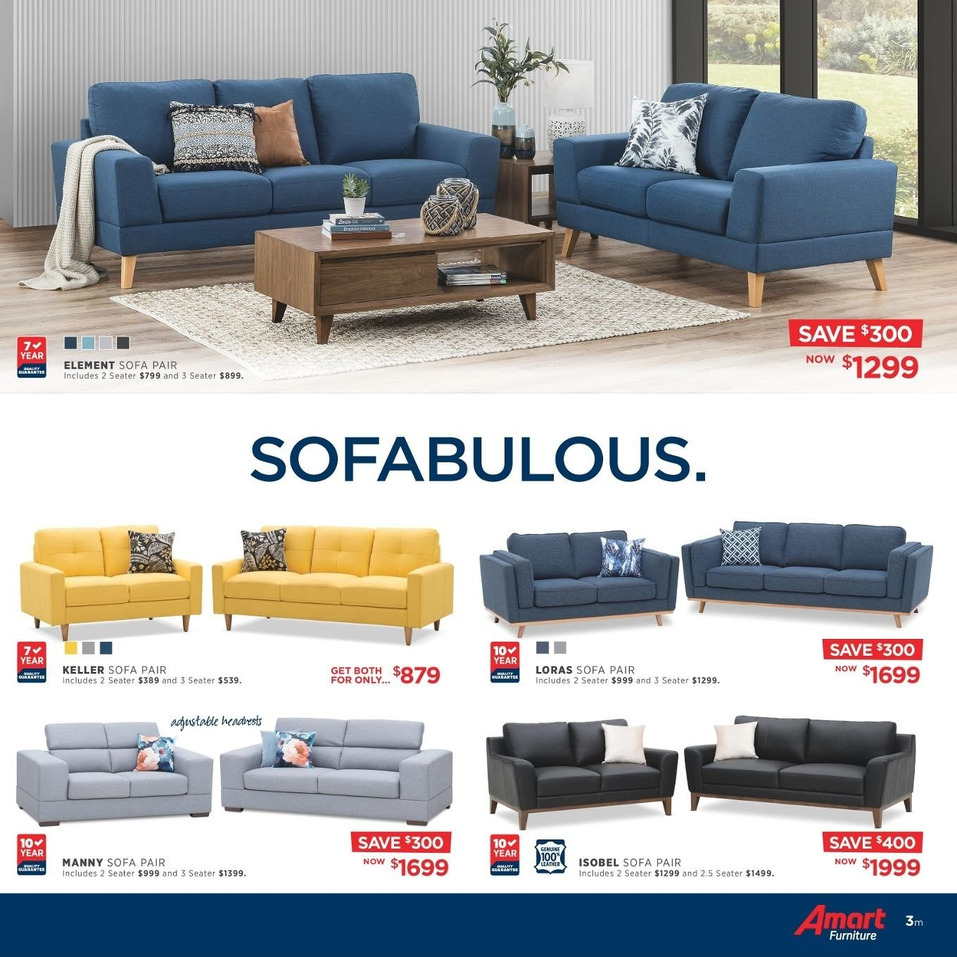 Amart Furniture catalogue  - 27.8.2018 - 26.9.2018. Page 3.