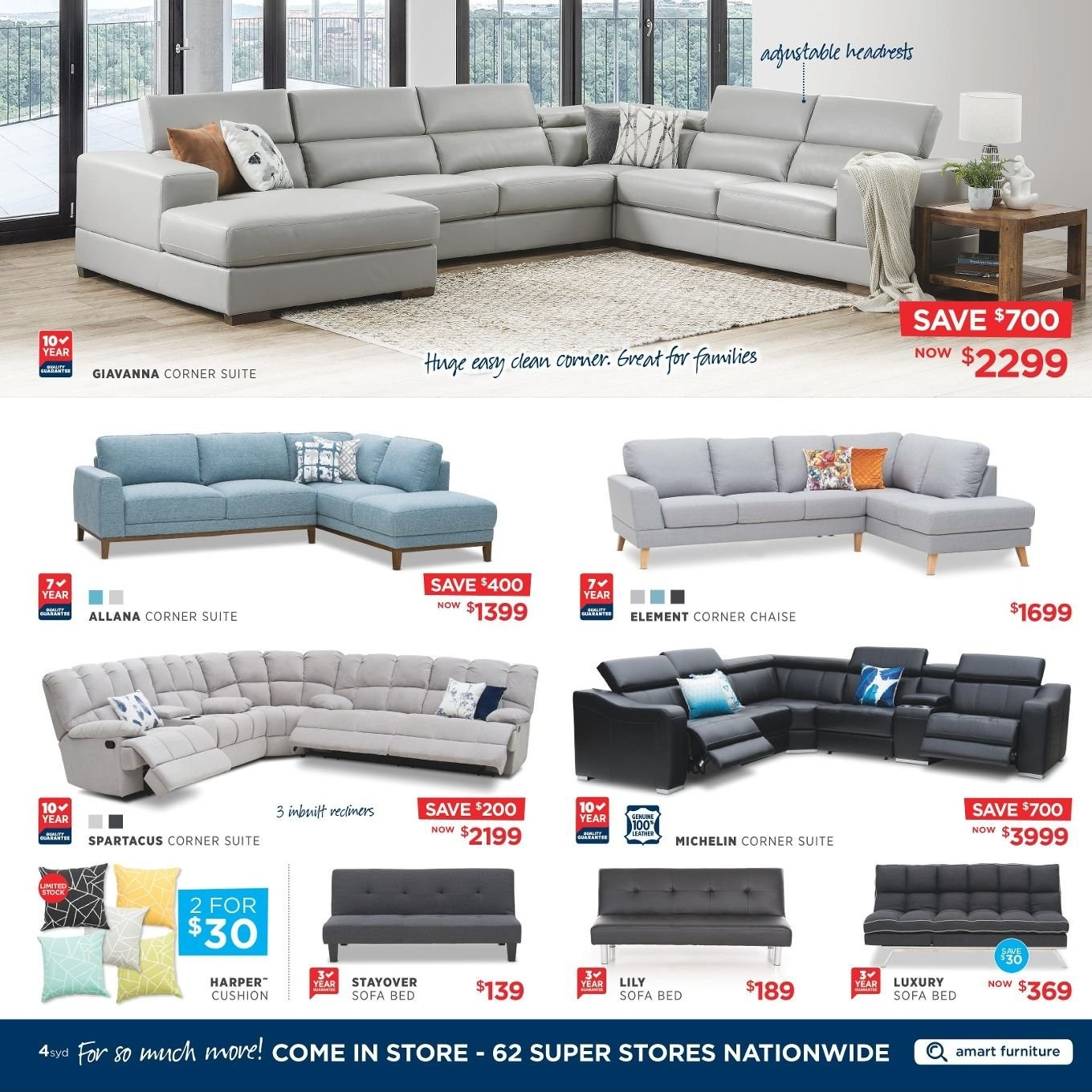 Amart Furniture catalogue  - 27.8.2018 - 26.9.2018. Page 4.
