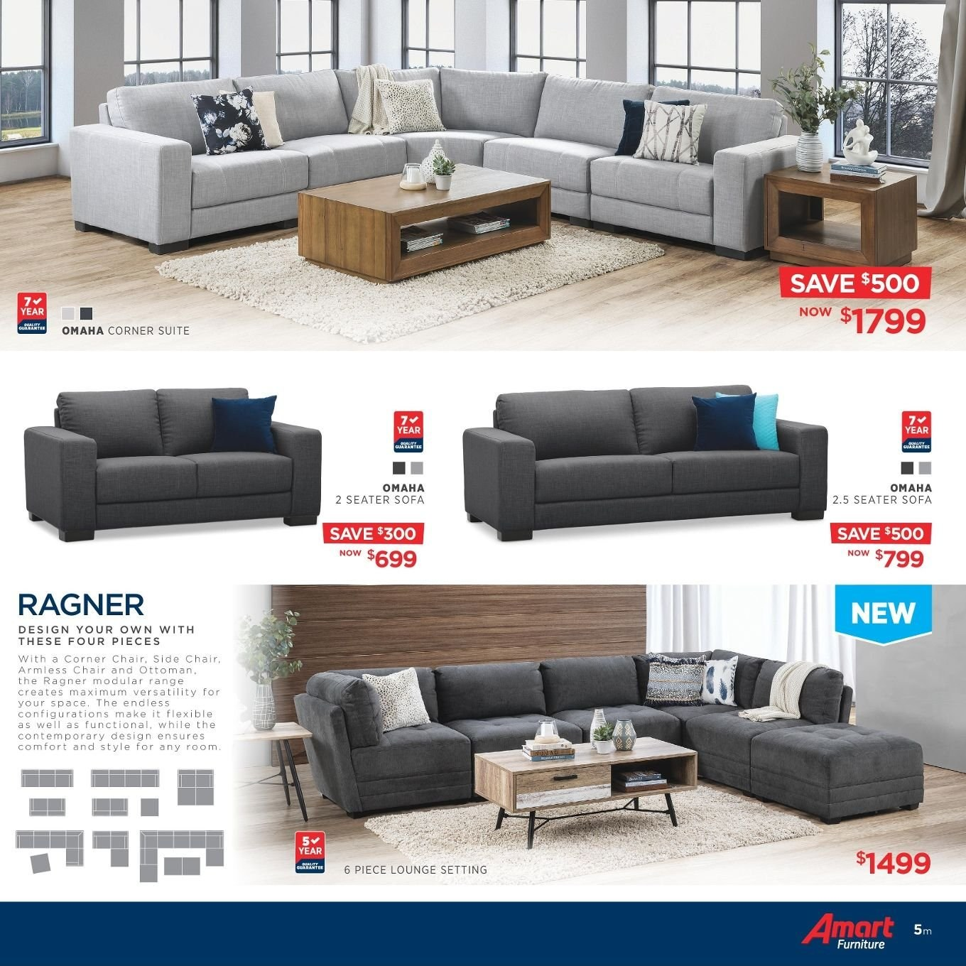 Amart Furniture catalogue  - 27.8.2018 - 26.9.2018. Page 5.