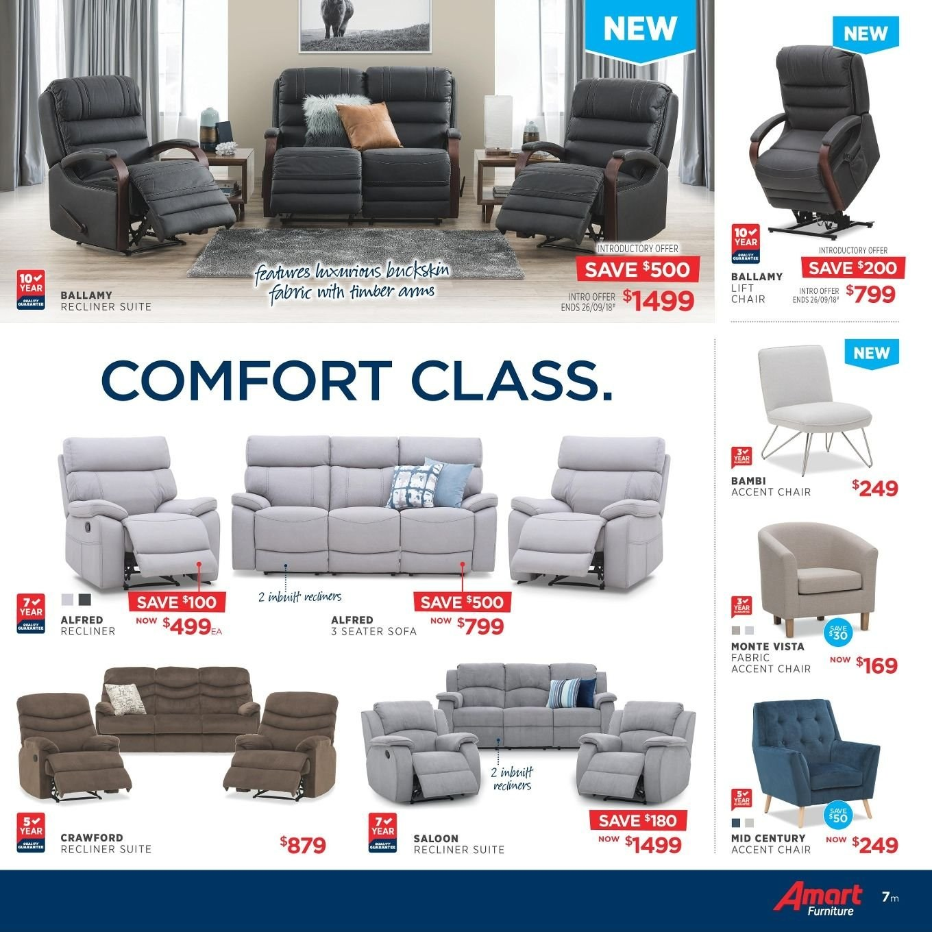 Amart Furniture catalogue  - 27.8.2018 - 26.9.2018. Page 7.