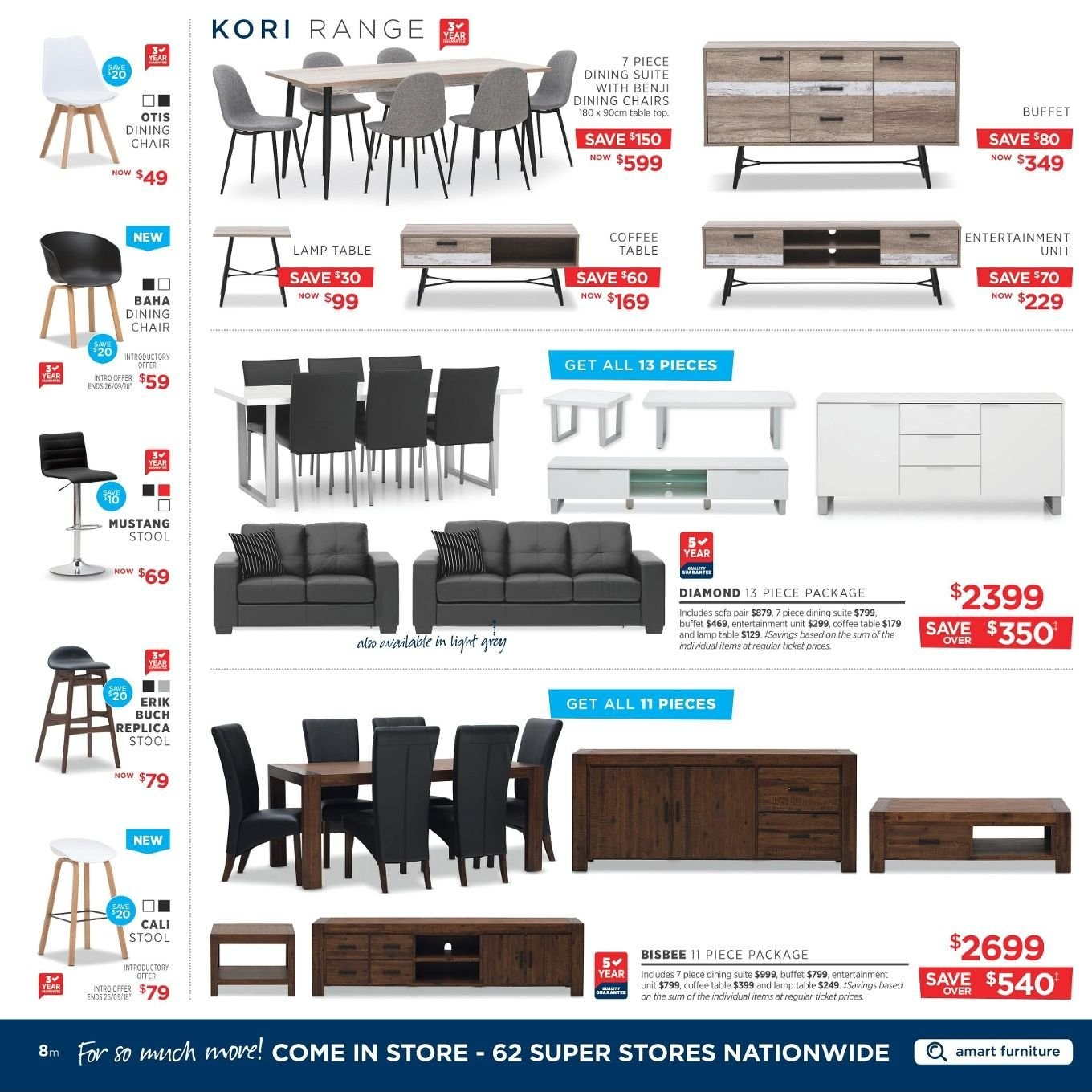 Amart Furniture catalogue  - 27.8.2018 - 26.9.2018. Page 8.