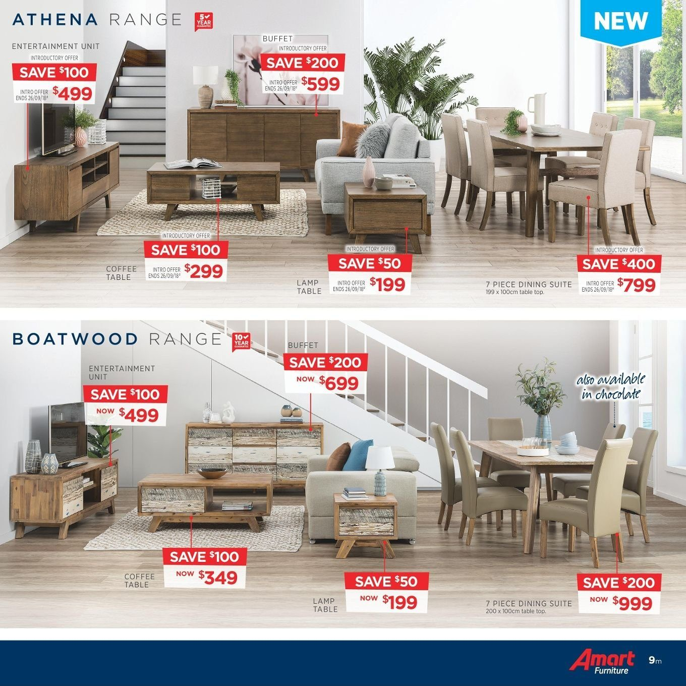 Amart Furniture catalogue  - 27.8.2018 - 26.9.2018. Page 9.
