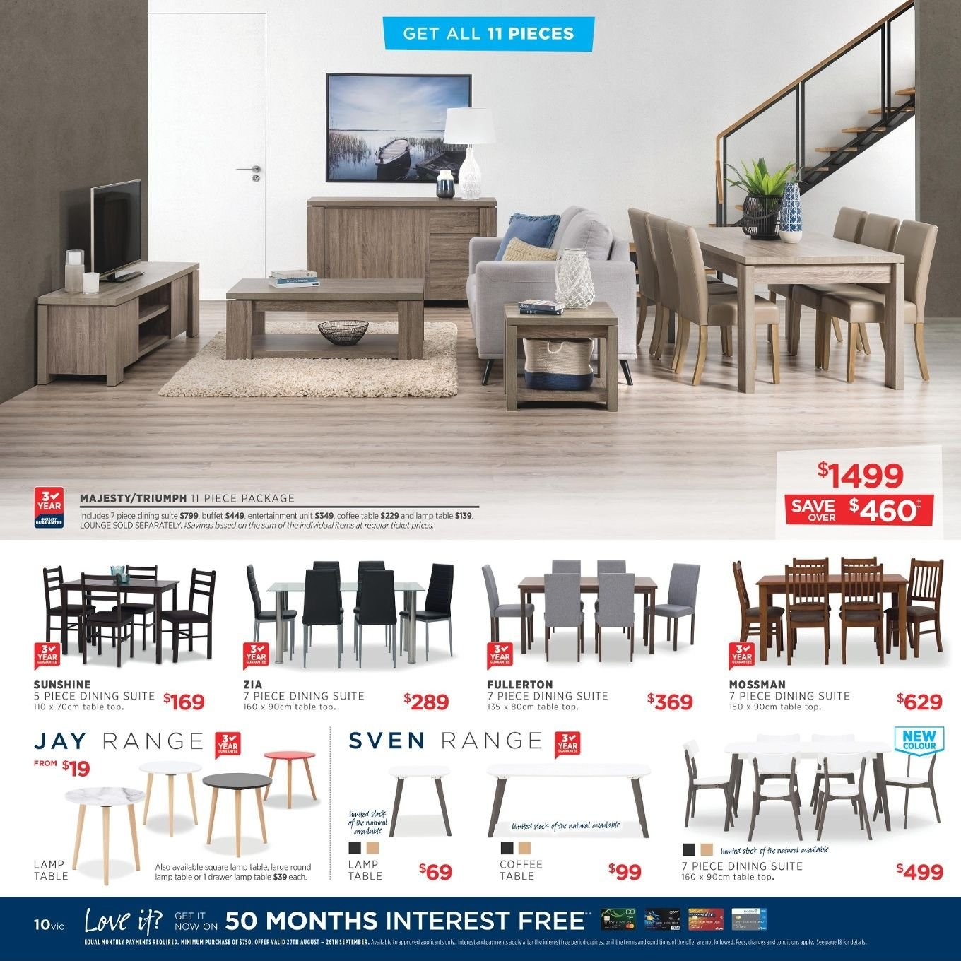 Amart Furniture catalogue  - 27.8.2018 - 26.9.2018. Page 10.