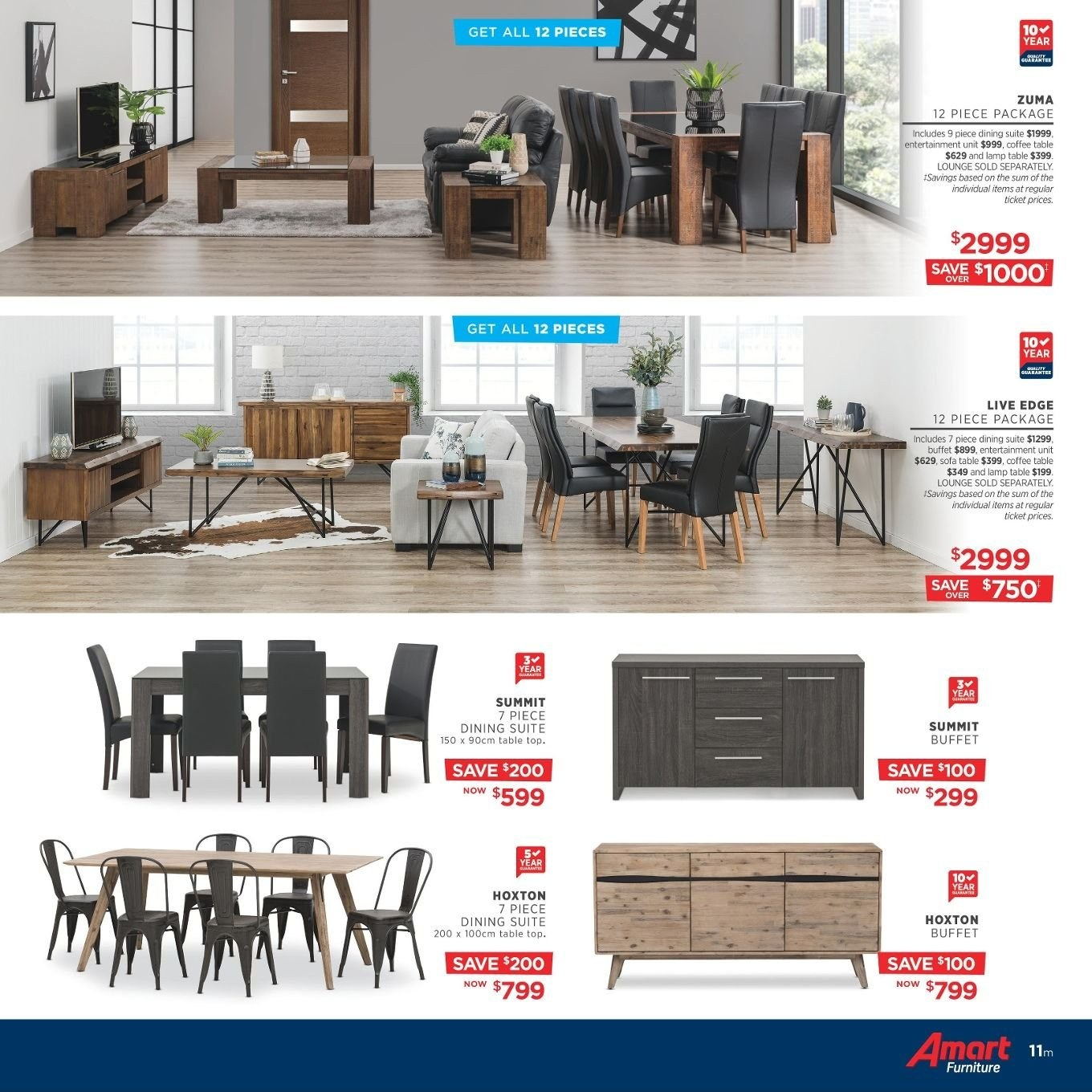 Amart Furniture catalogue  - 27.8.2018 - 26.9.2018. Page 11.