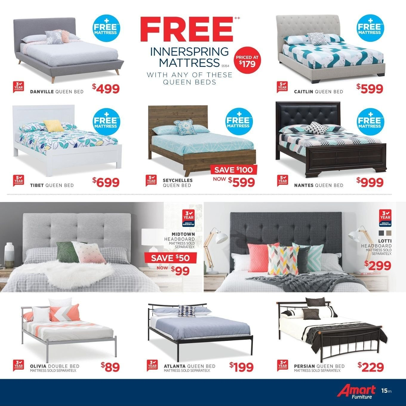 Amart Furniture catalogue  - 27.8.2018 - 26.9.2018. Page 15.