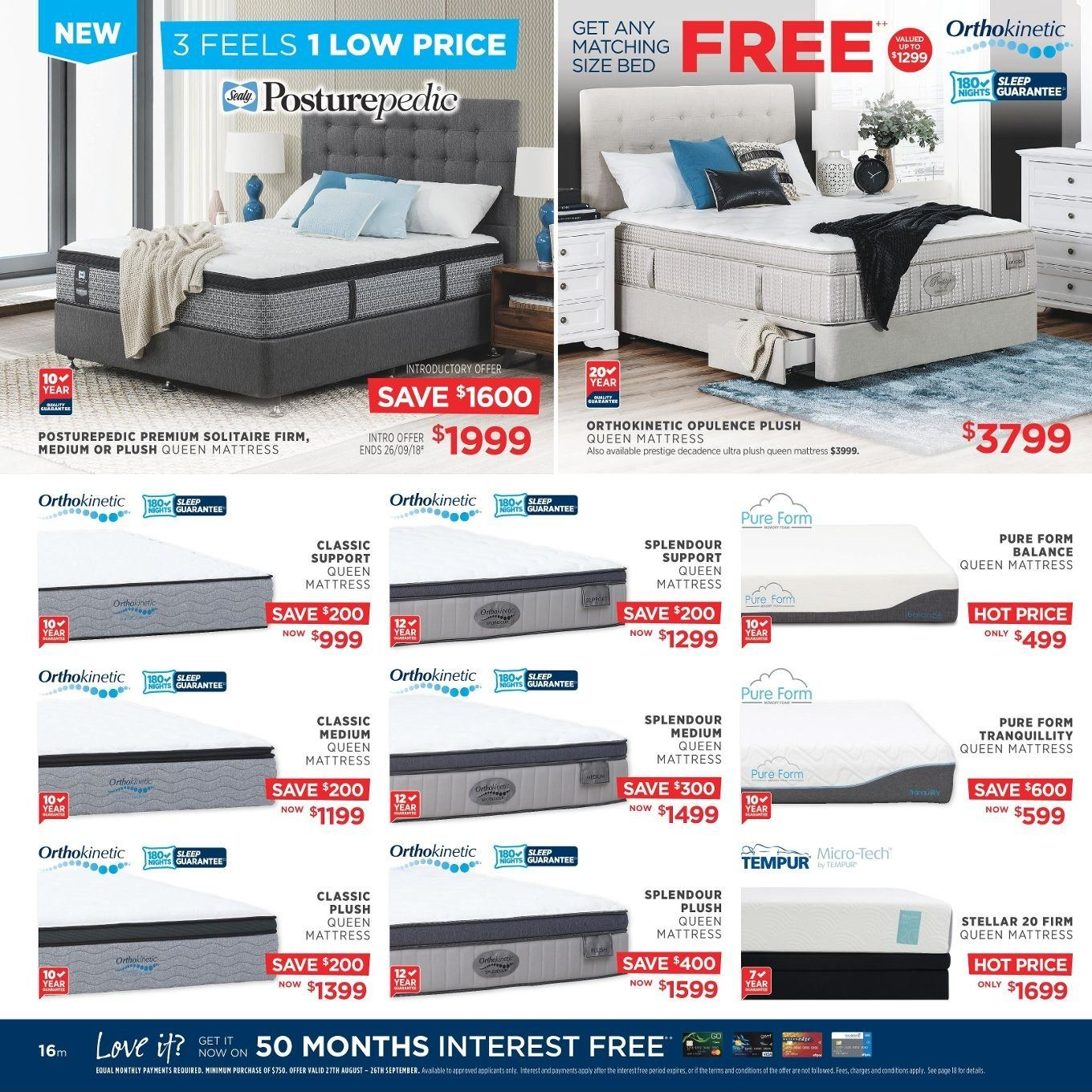 Amart Furniture catalogue  - 27.8.2018 - 26.9.2018. Page 16.