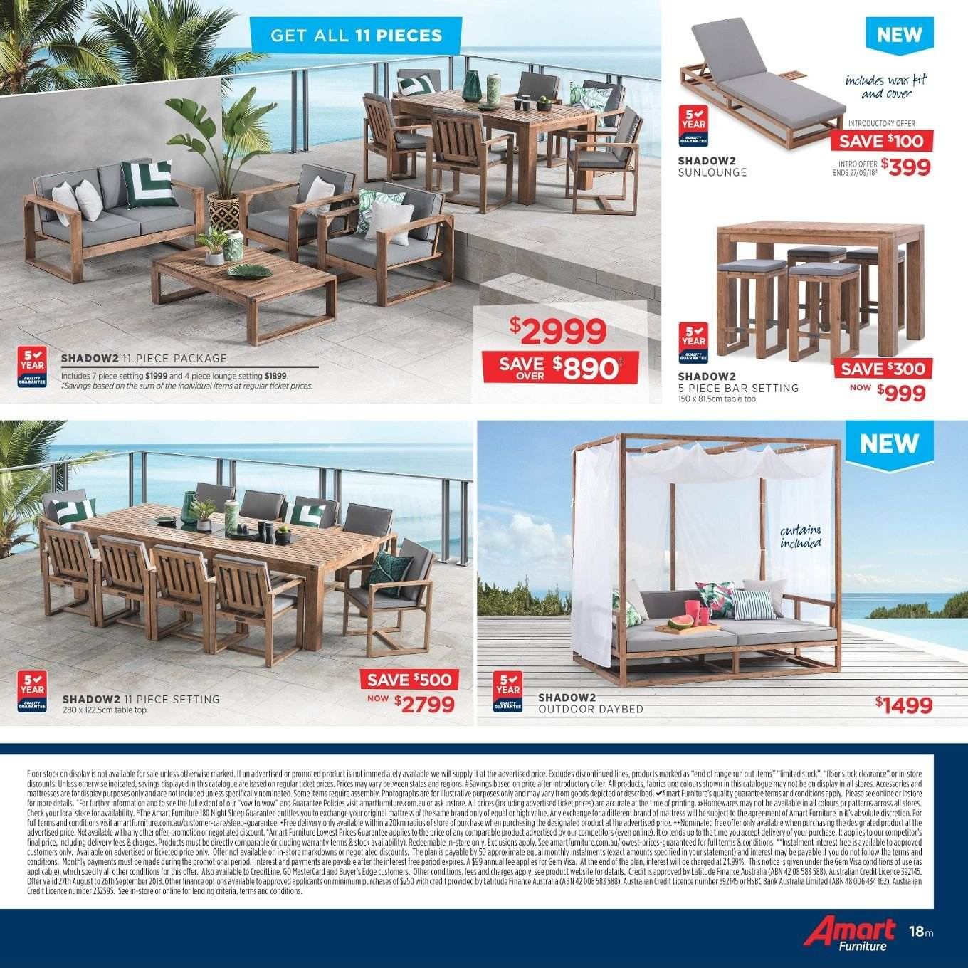 Amart Furniture catalogue  - 27.8.2018 - 26.9.2018. Page 18.