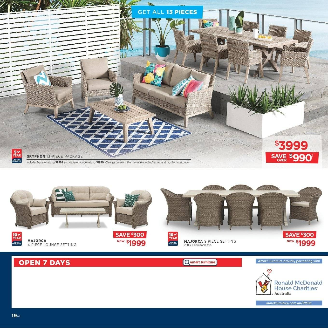 Amart Furniture catalogue  - 27.8.2018 - 26.9.2018. Page 19.