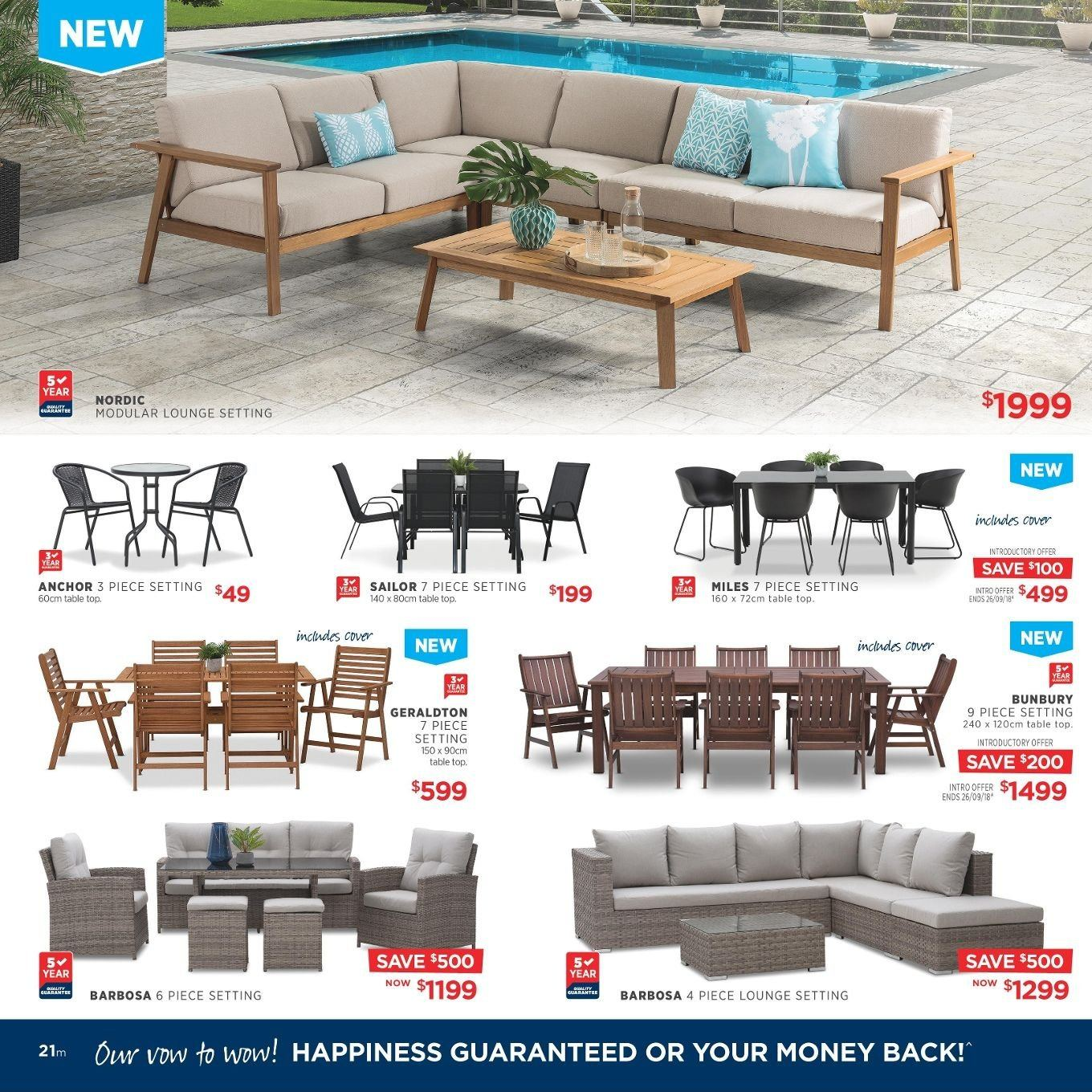Amart Furniture catalogue  - 27.8.2018 - 26.9.2018. Page 21.