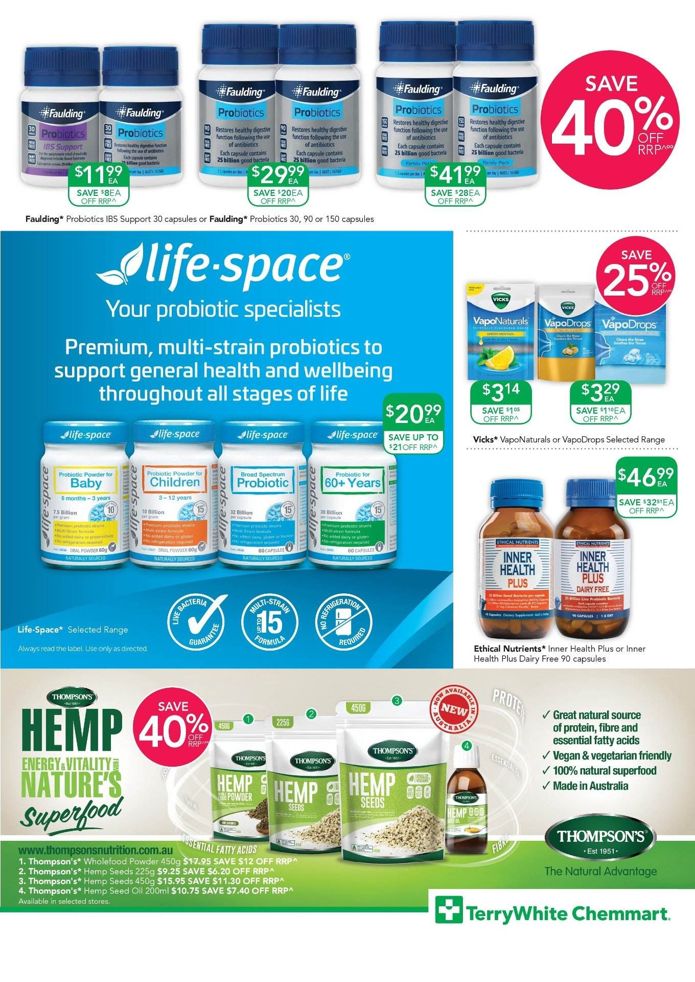 TerryWhite Chemmart catalogue  - 30.8.2018 - 18.9.2018. Page 7.