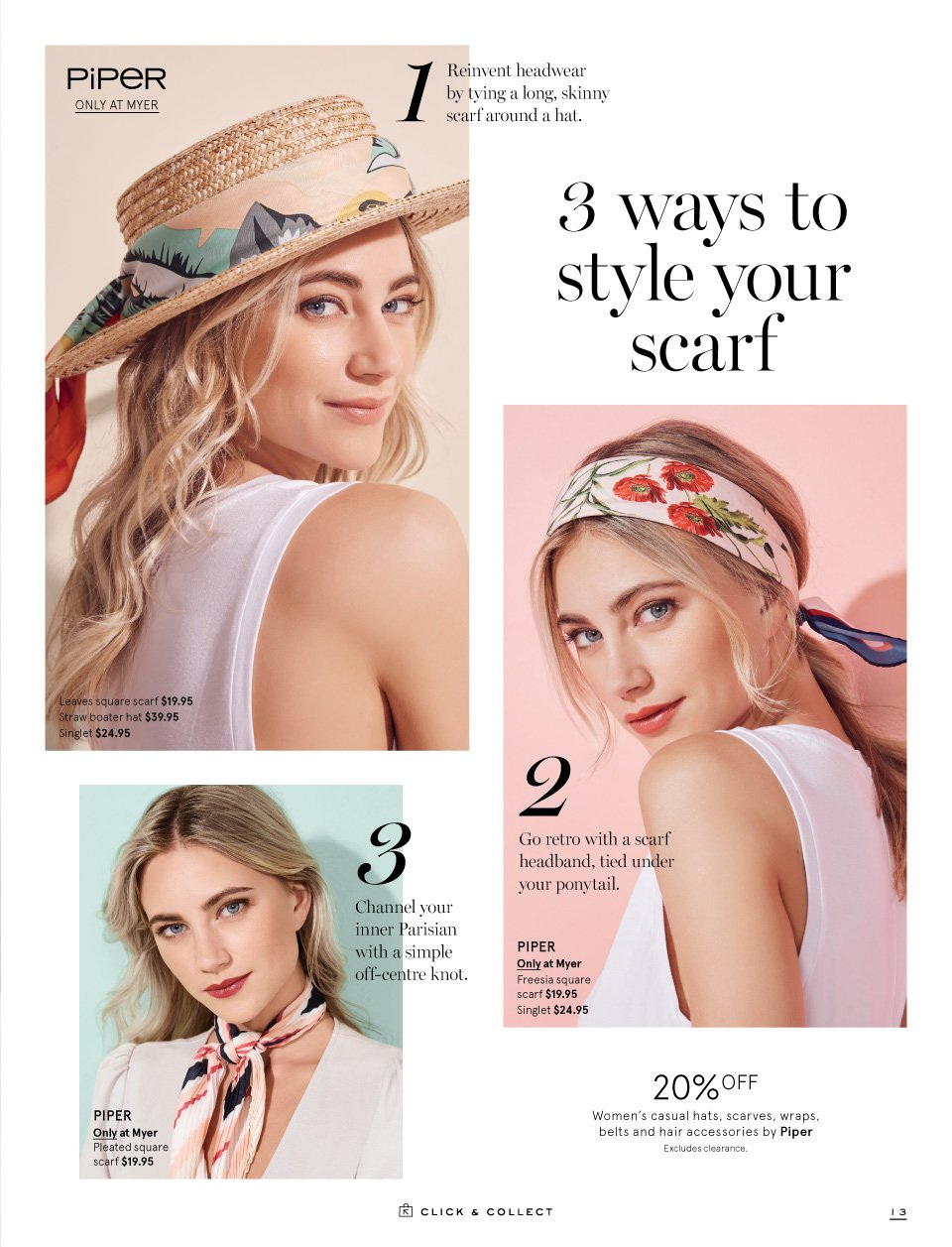Myer catalogue  - 1.9.2018 - 16.9.2018. Page 13.