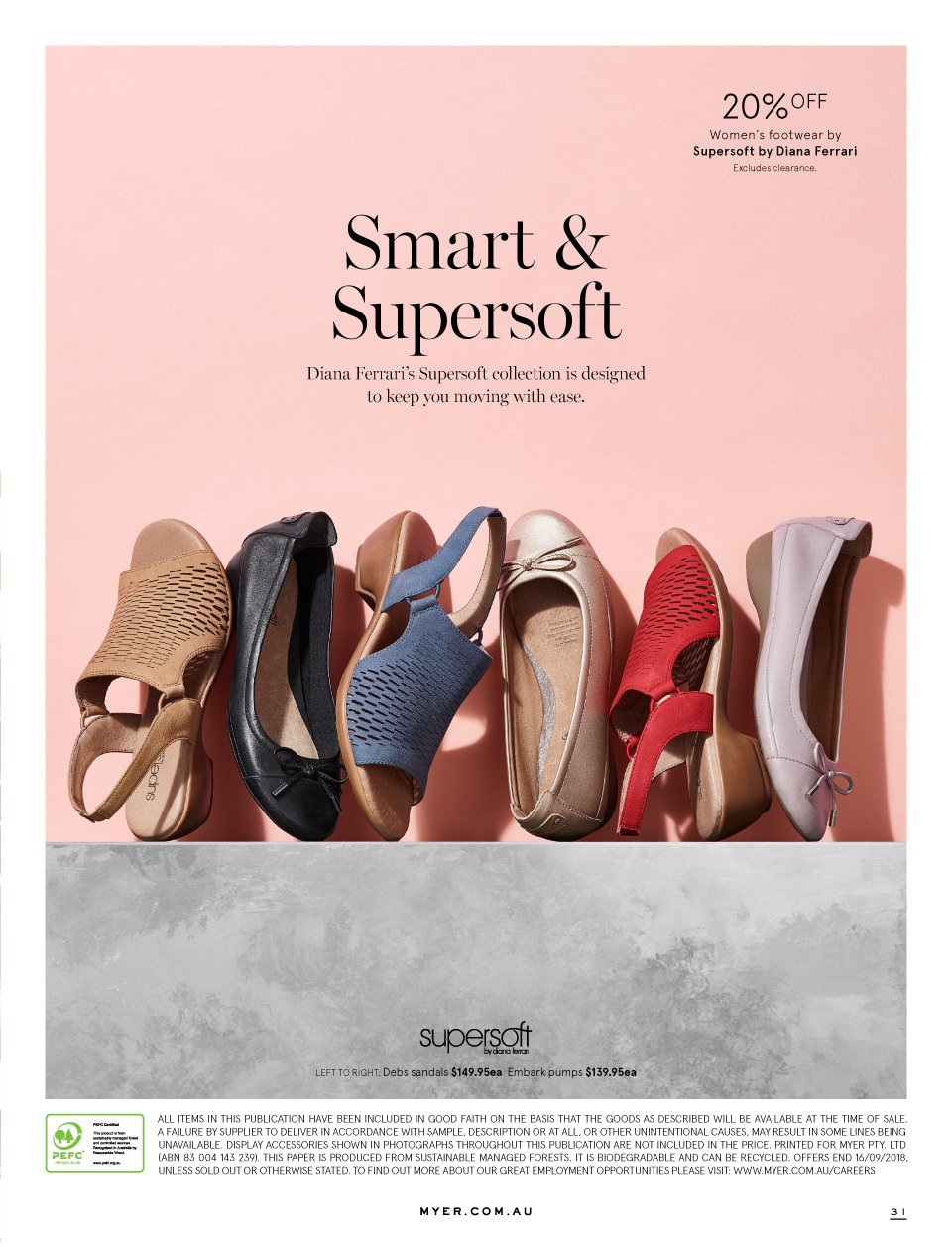 Myer catalogue  - 1.9.2018 - 16.9.2018. Page 31.