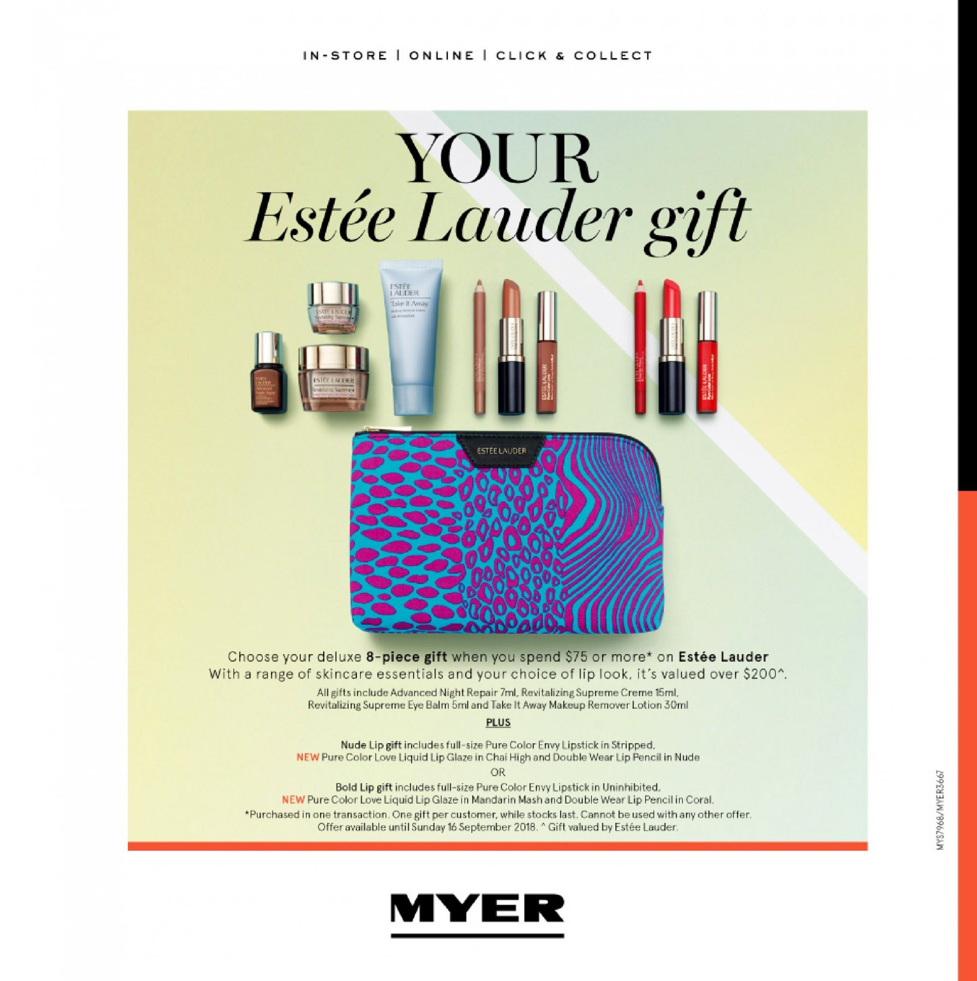 Myer catalogue  - 4.9.2018 - 23.9.2018. Page 28.
