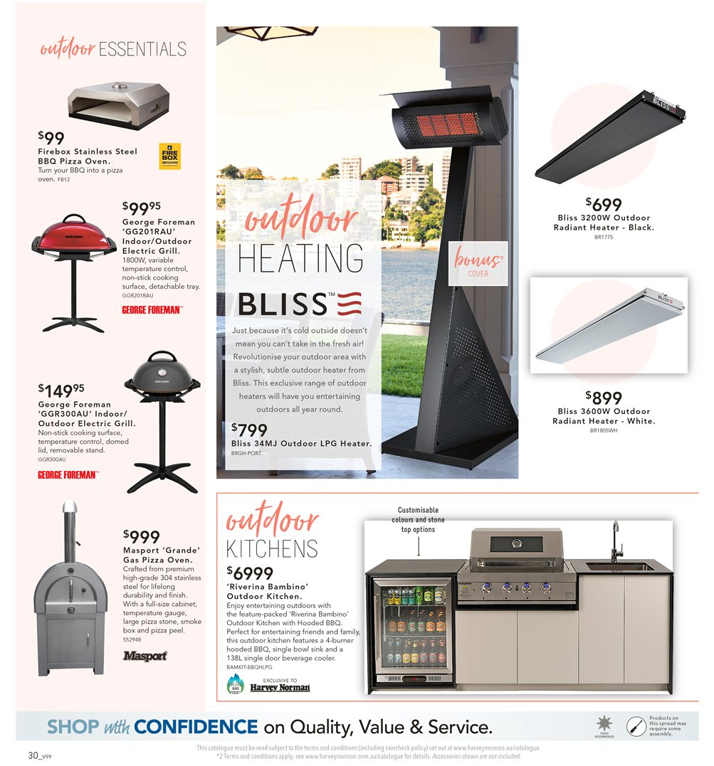 Harvey Norman catalogue  - 7.9.2018 - 30.9.2018. Page 30.