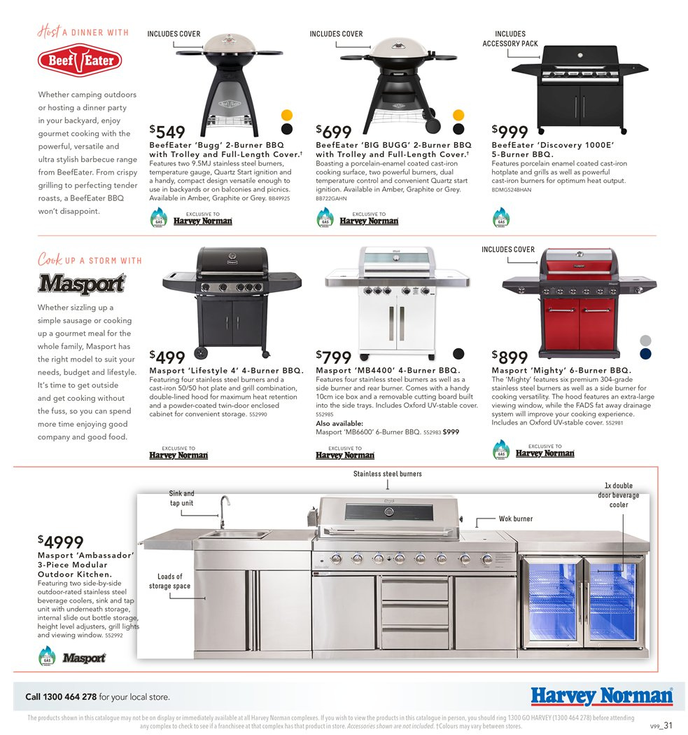 Harvey Norman catalogue  - 7.9.2018 - 30.9.2018. Page 31.