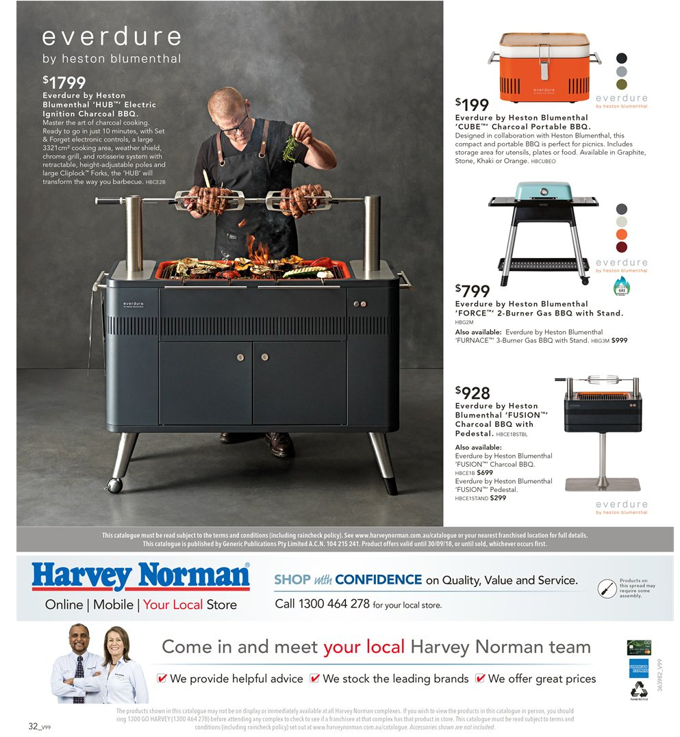Harvey Norman catalogue  - 7.9.2018 - 30.9.2018. Page 32.
