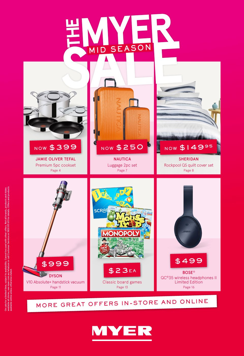 Myer catalogue  - 3.10.2018 - 14.10.2018. Page 1.
