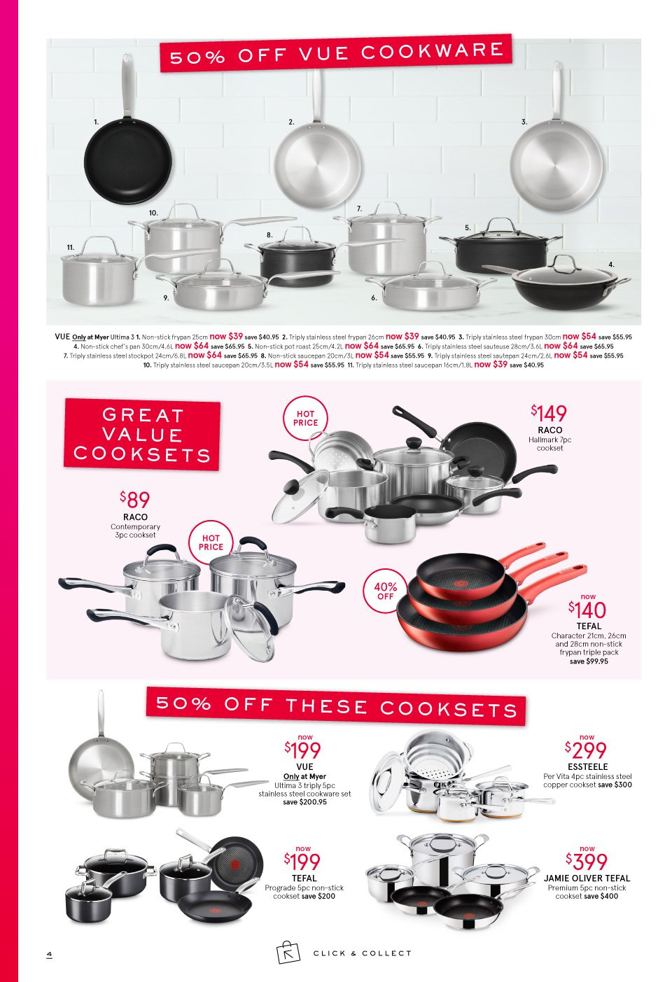 Myer catalogue  - 3.10.2018 - 14.10.2018. Page 4.