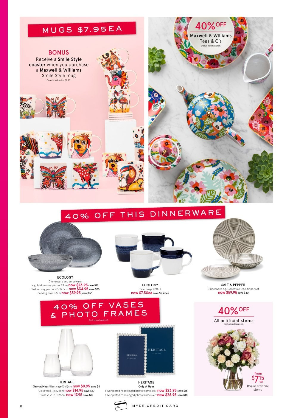 Myer catalogue  - 3.10.2018 - 14.10.2018. Page 6.