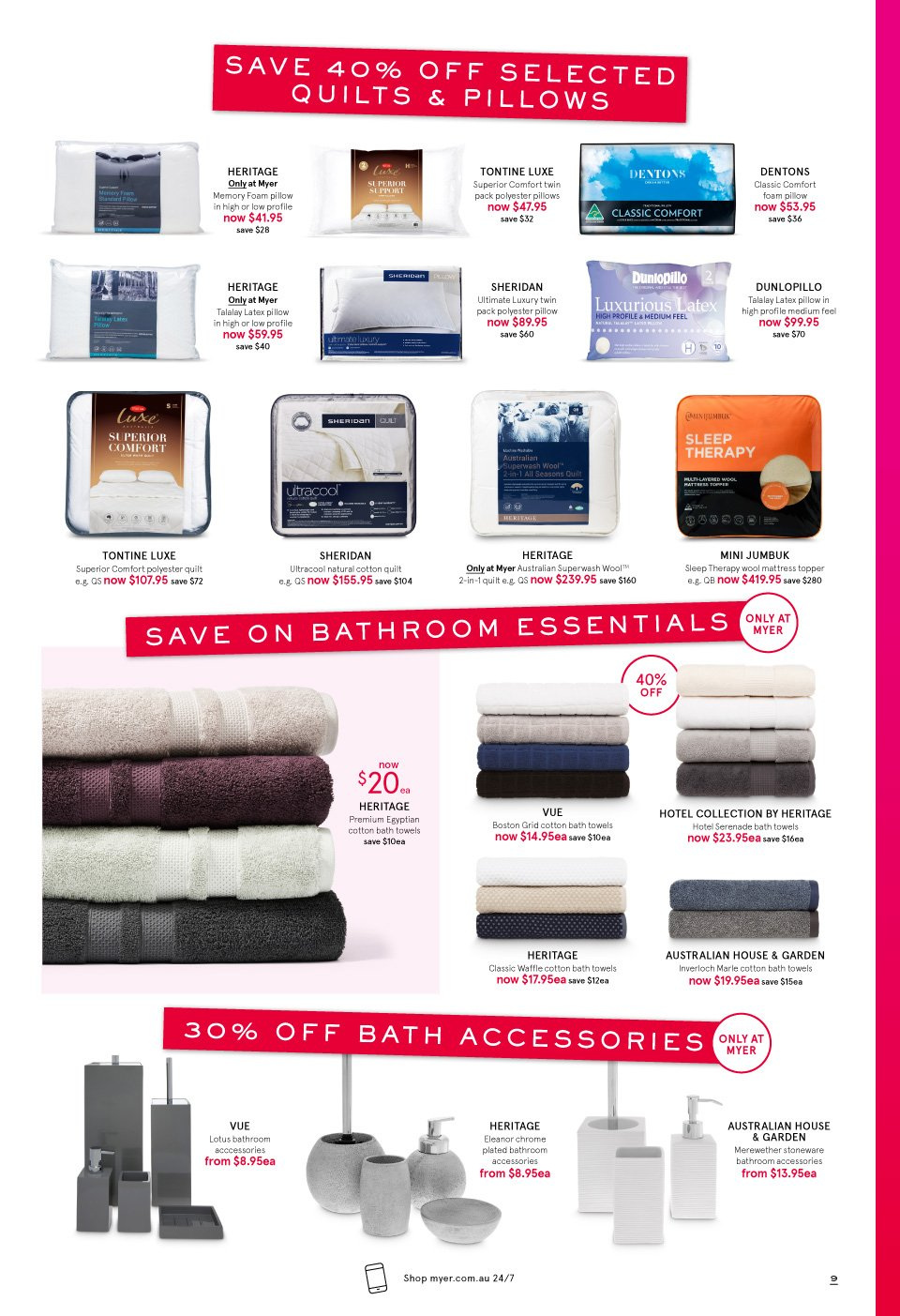 Myer catalogue  - 3.10.2018 - 14.10.2018. Page 9.