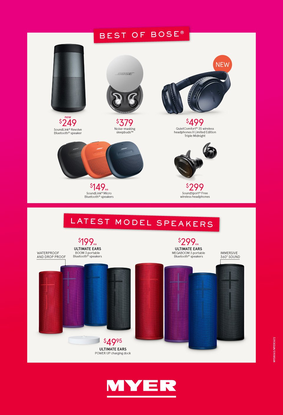 Myer catalogue  - 3.10.2018 - 14.10.2018. Page 16.