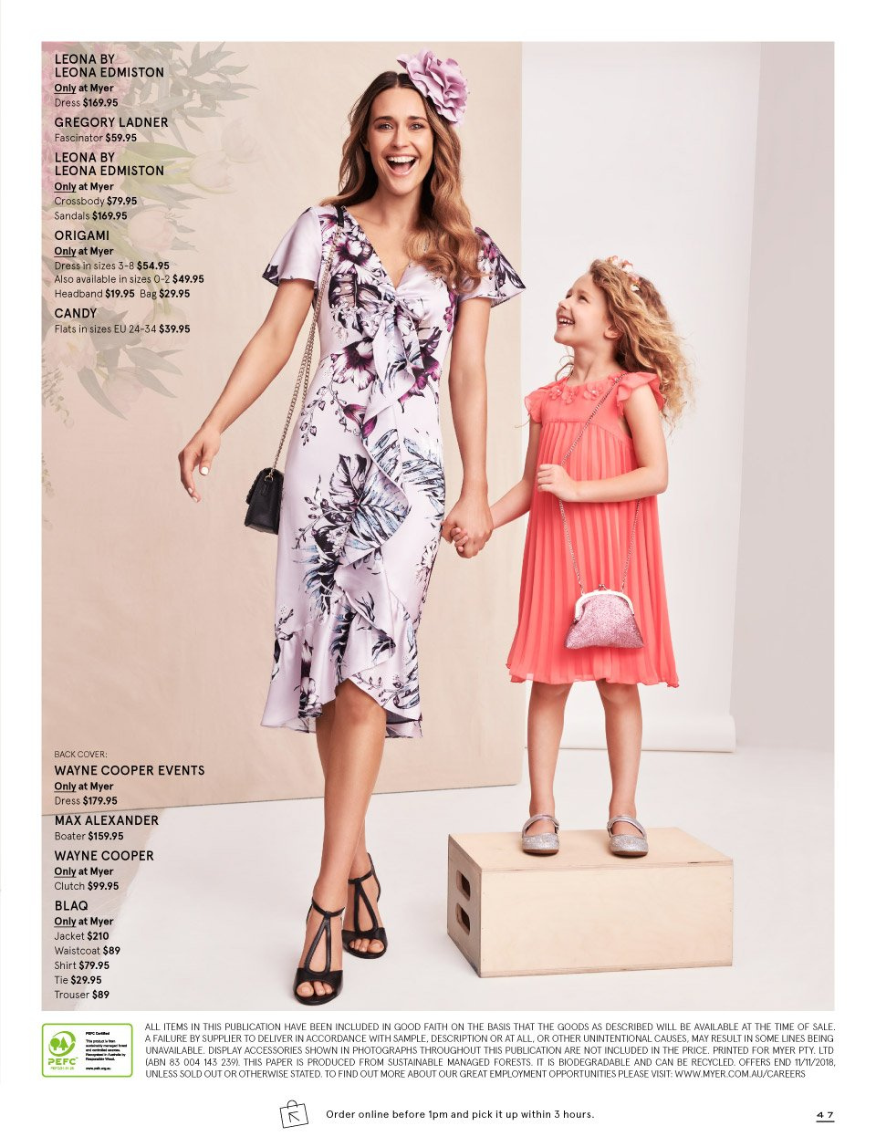 Myer catalogue  - 7.10.2018 - 11.11.2018. Page 47.