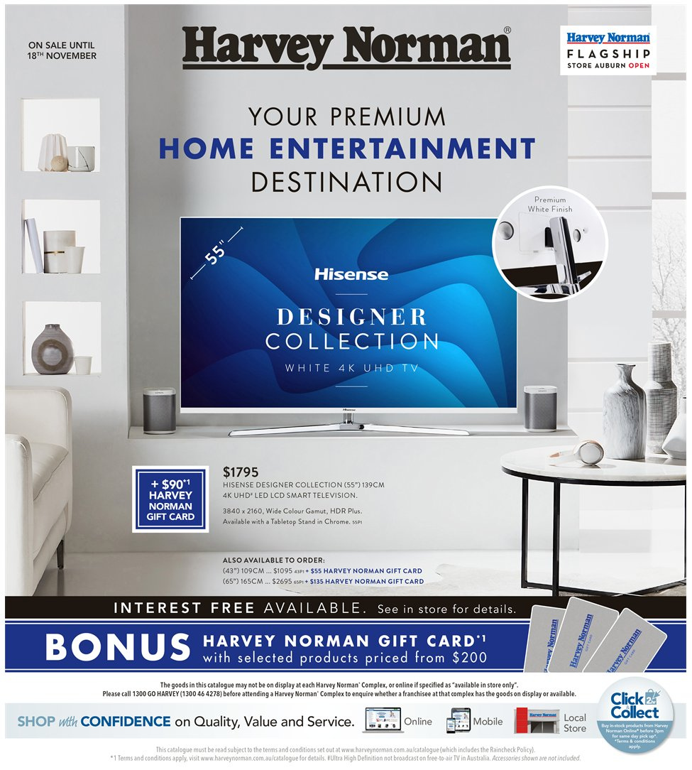 Harvey Norman catalogue  - 2.11.2018 - 18.11.2018. Page 1.