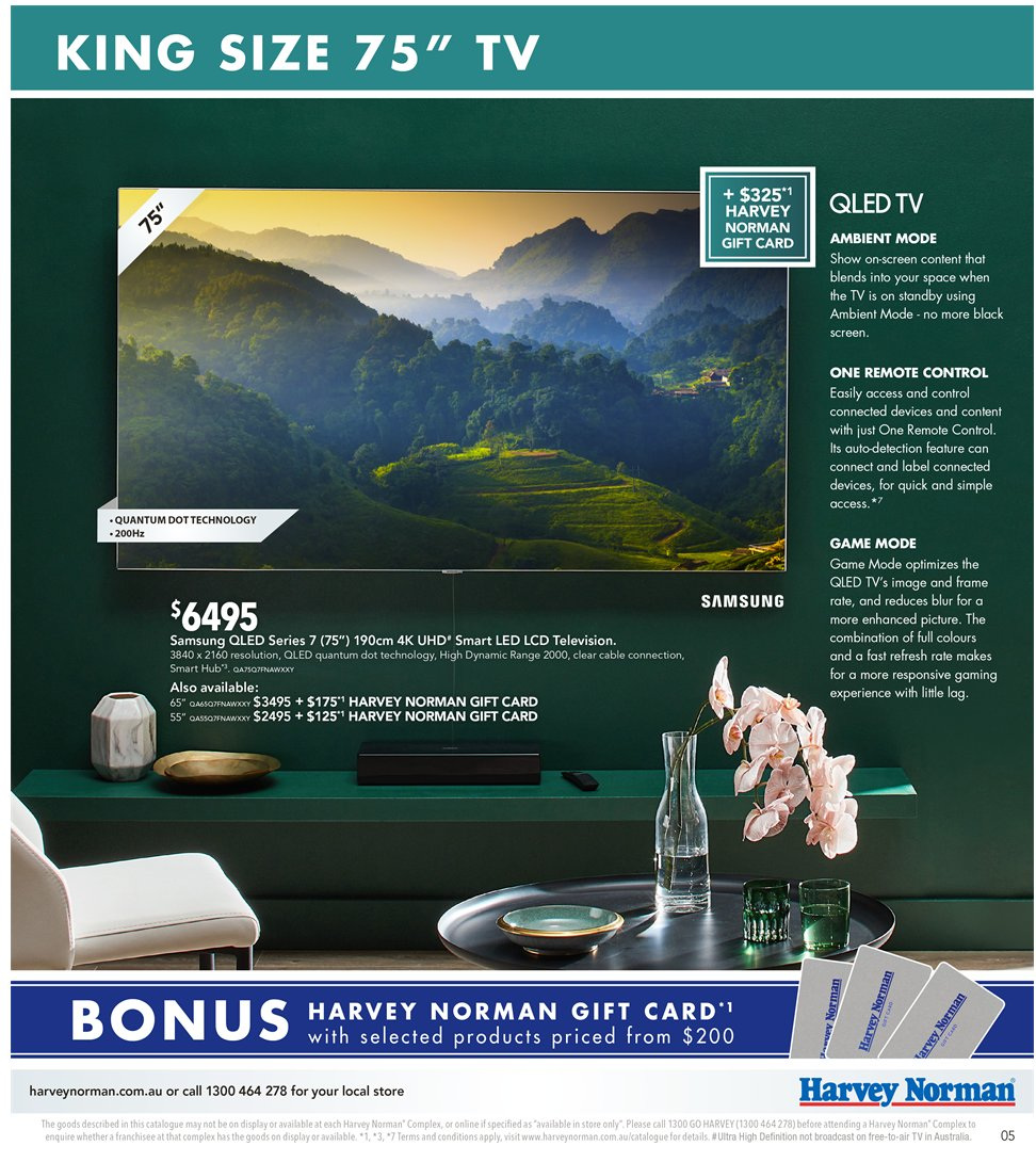 Harvey Norman catalogue  - 2.11.2018 - 18.11.2018. Page 5.