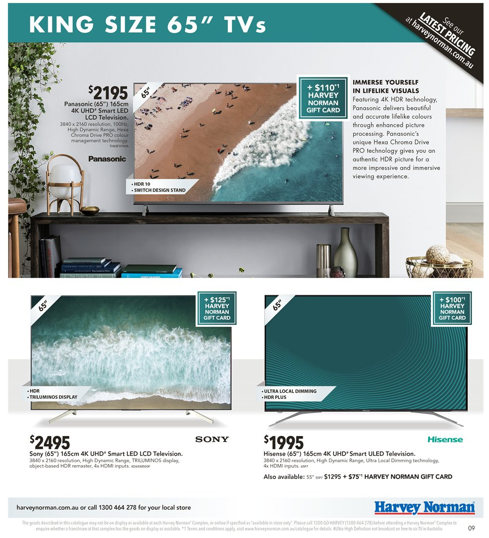 Harvey Norman catalogue  - 2.11.2018 - 18.11.2018. Page 9.