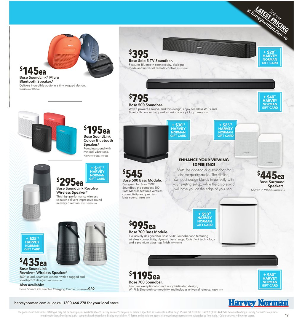 Harvey Norman catalogue  - 2.11.2018 - 18.11.2018. Page 19.