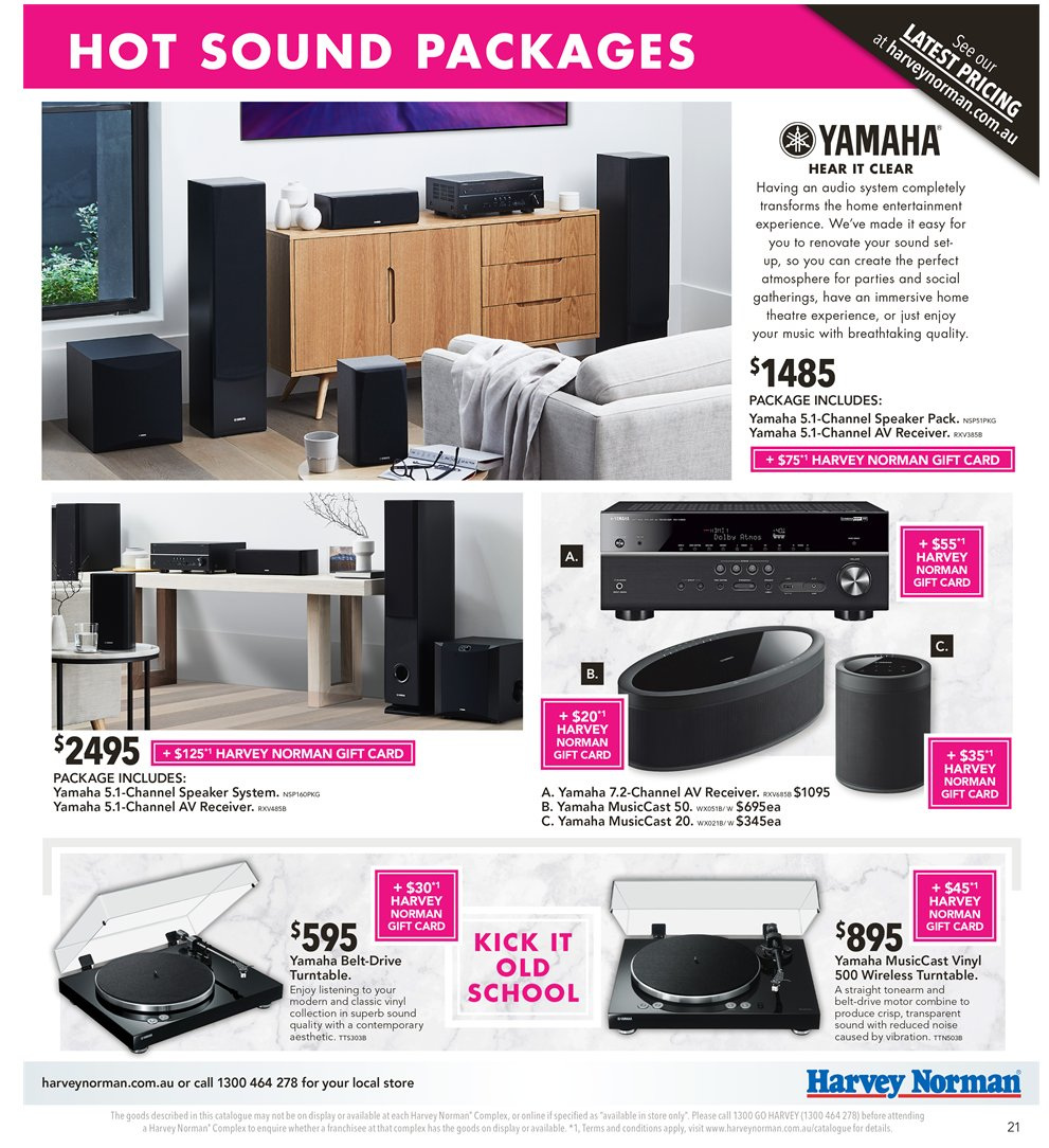 Harvey Norman catalogue  - 2.11.2018 - 18.11.2018. Page 21.