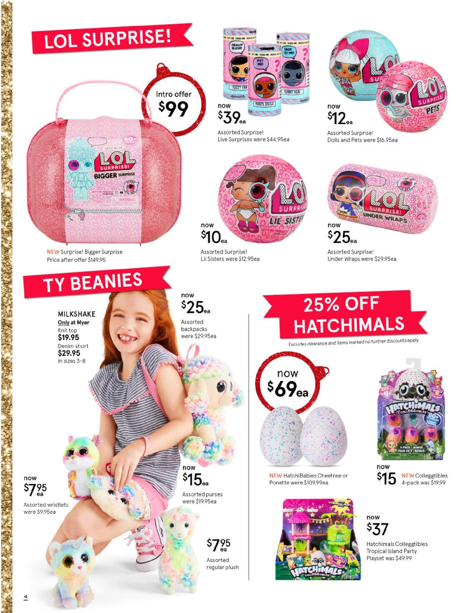 Myer catalogue  - 30.10.2018 - 25.11.2018. Page 4.
