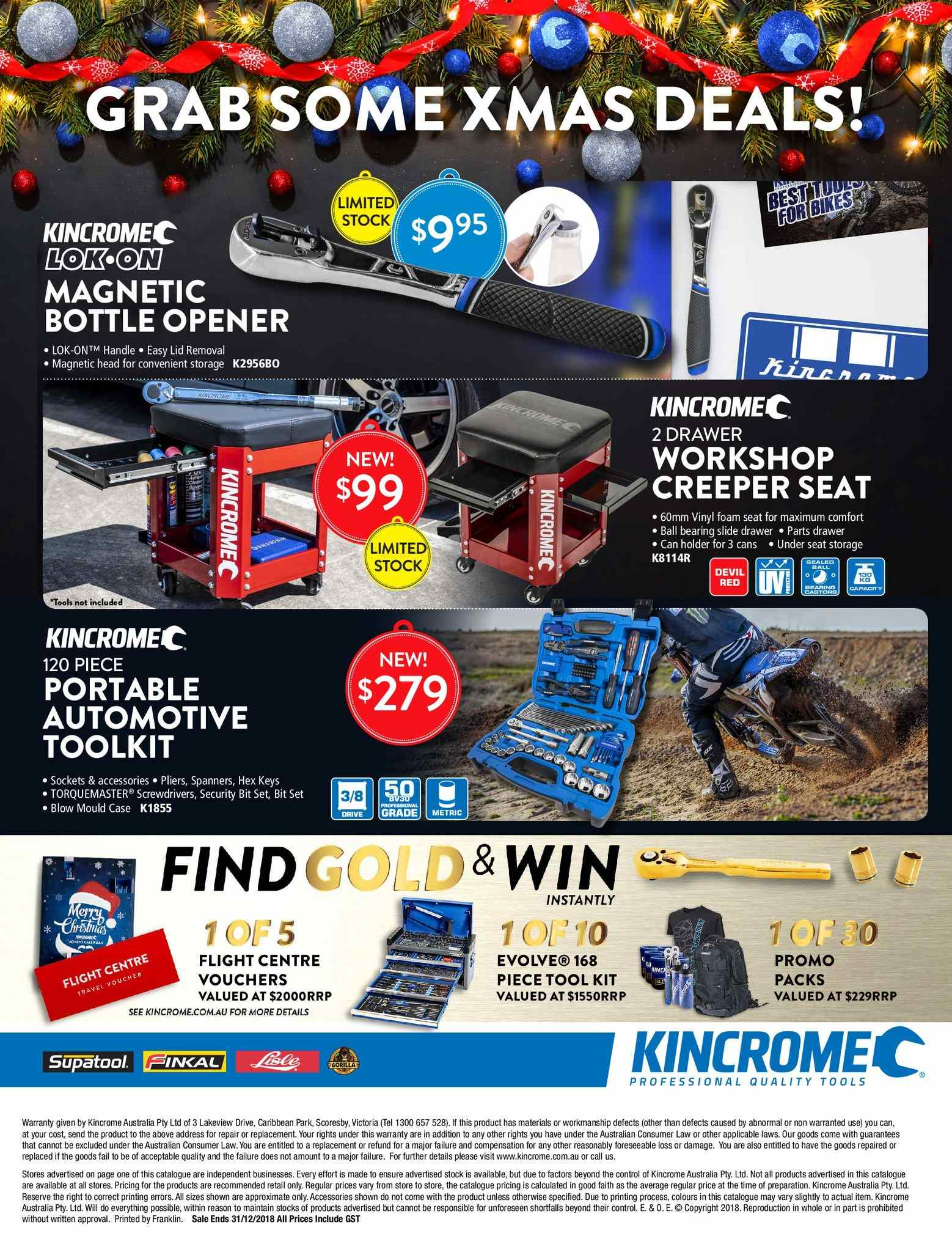 Kincrome catalogue  - 3.11.2018 - 31.12.2018. Page 28.