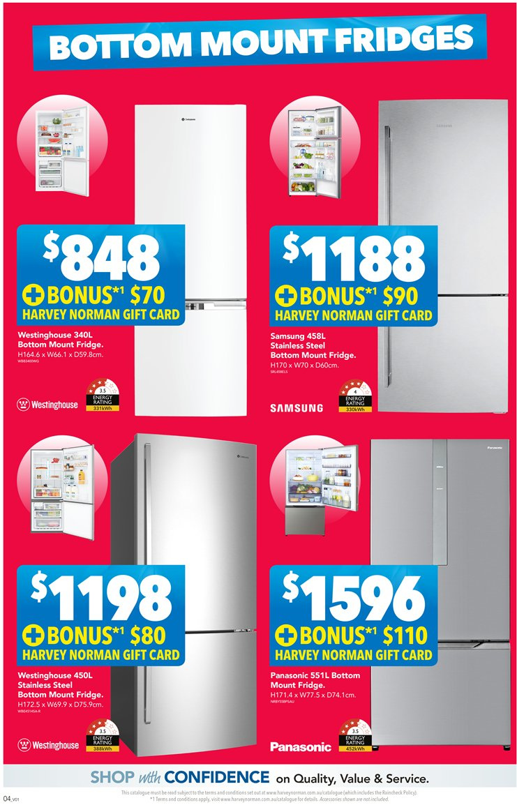 Harvey Norman catalogue  - 23.11.2018 - 9.12.2018. Page 4.