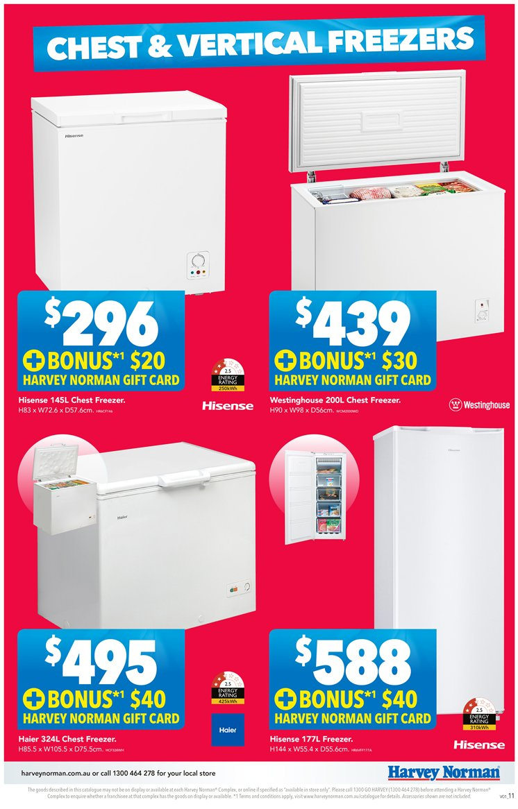 Harvey Norman catalogue  - 23.11.2018 - 9.12.2018. Page 11.