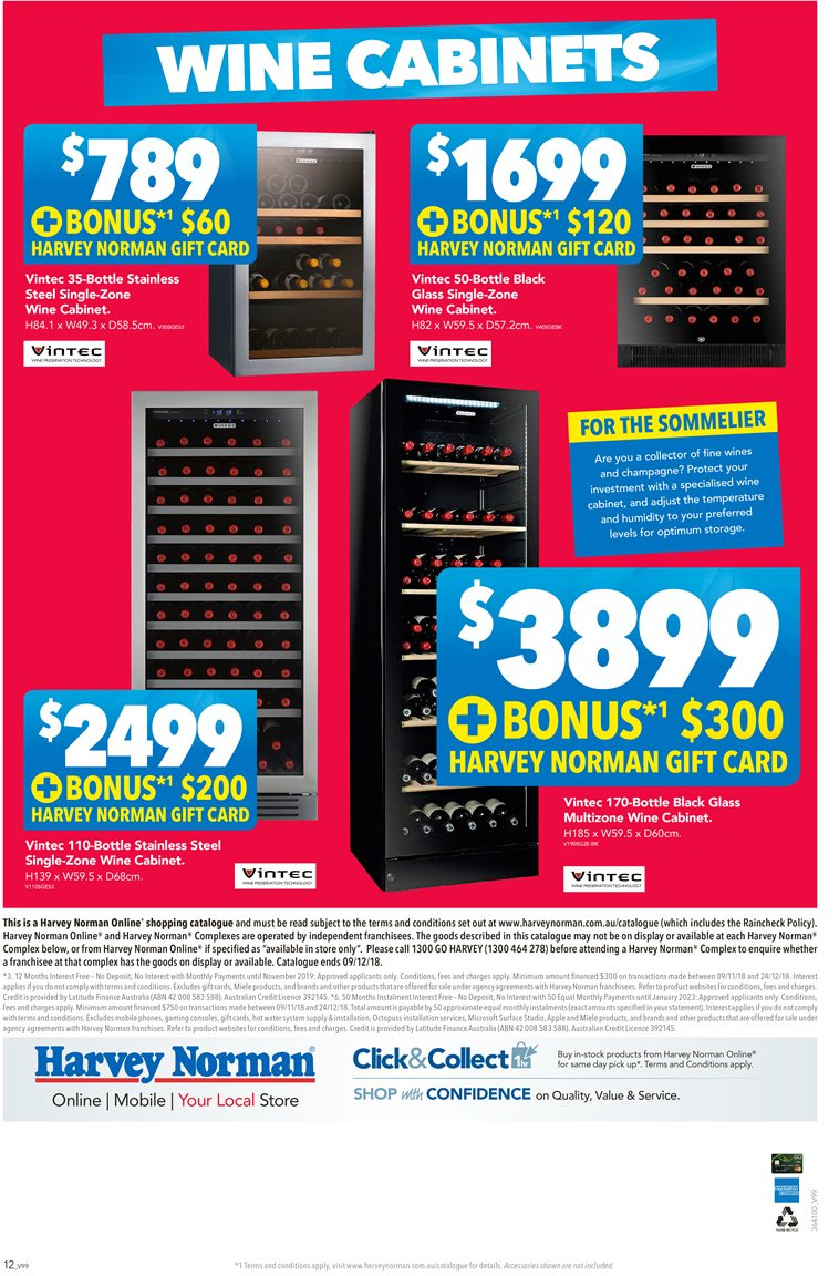 Harvey Norman catalogue  - 23.11.2018 - 9.12.2018. Page 12.