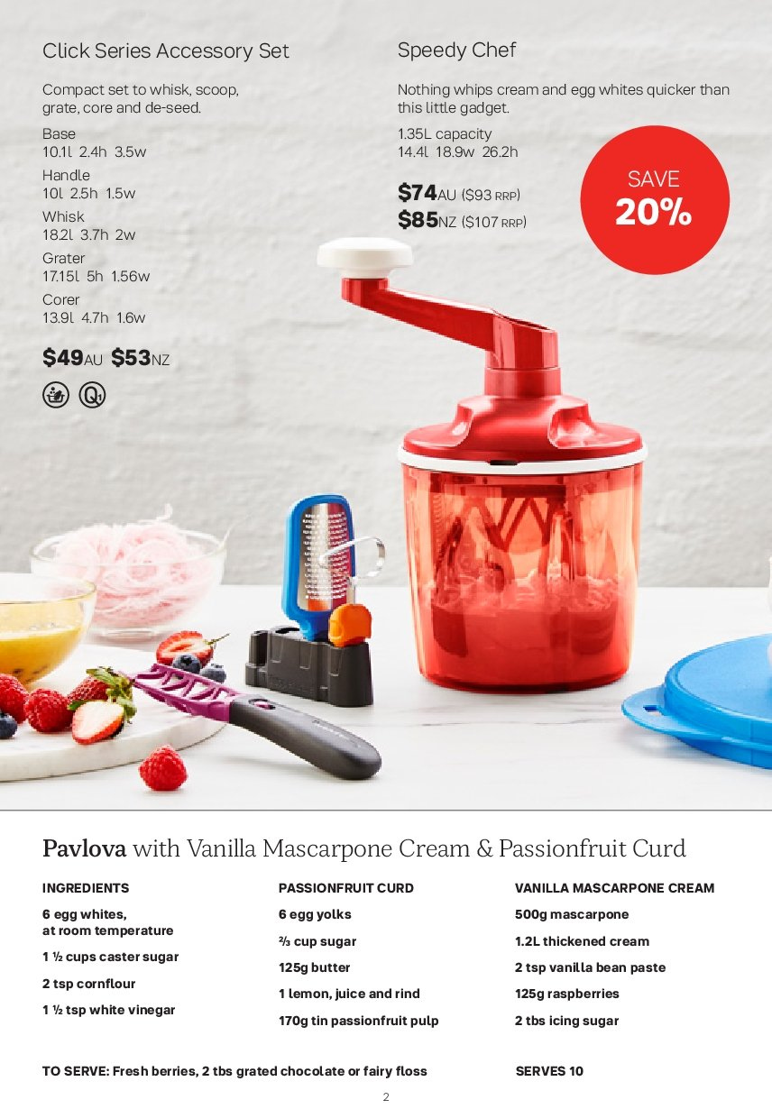Tupperware catalogue  - 26.11.2018 - 30.12.2018. Page 2.