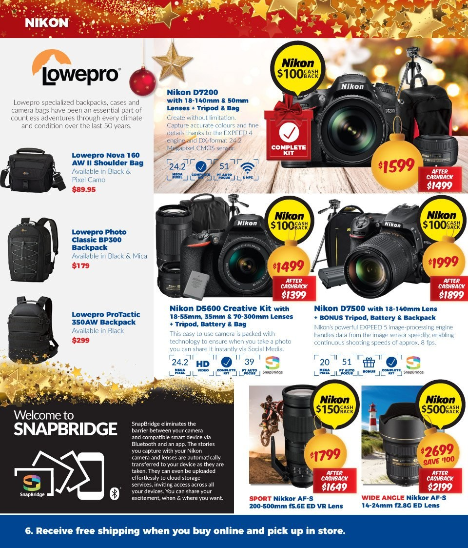 Camera House catalogue  - 27.11.2018 - 24.12.2018. Page 6.