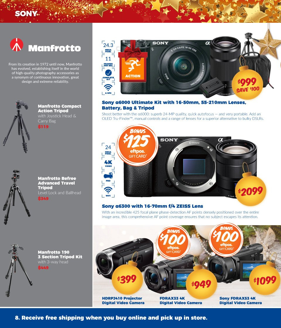Camera House catalogue  - 27.11.2018 - 24.12.2018. Page 8.