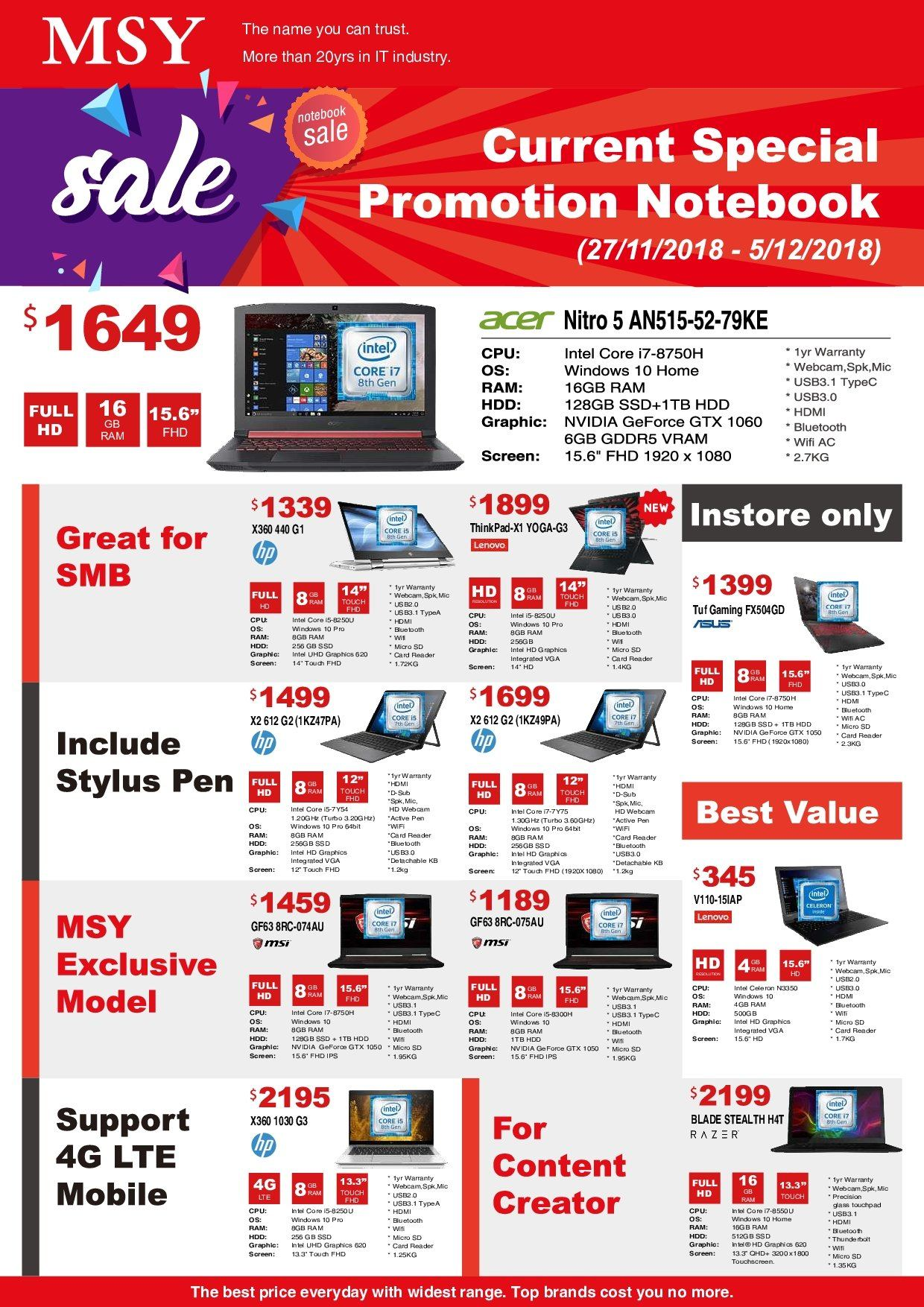 MSY Technology catalogue . Page 2.