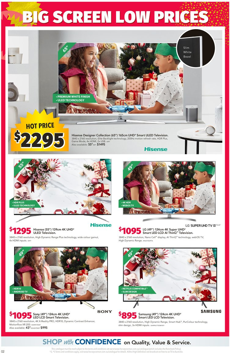 Harvey Norman catalogue  - 7.12.2018 - 24.12.2018. Page 2.