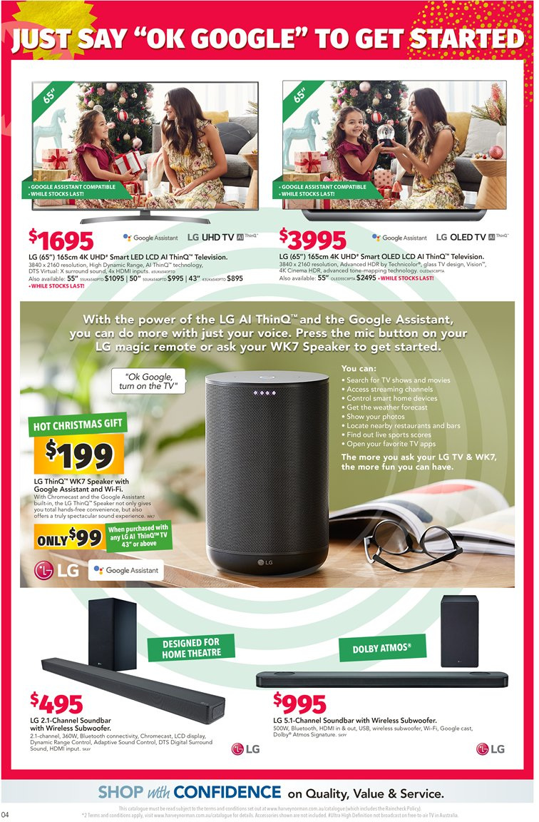 Harvey Norman catalogue  - 7.12.2018 - 24.12.2018. Page 4.