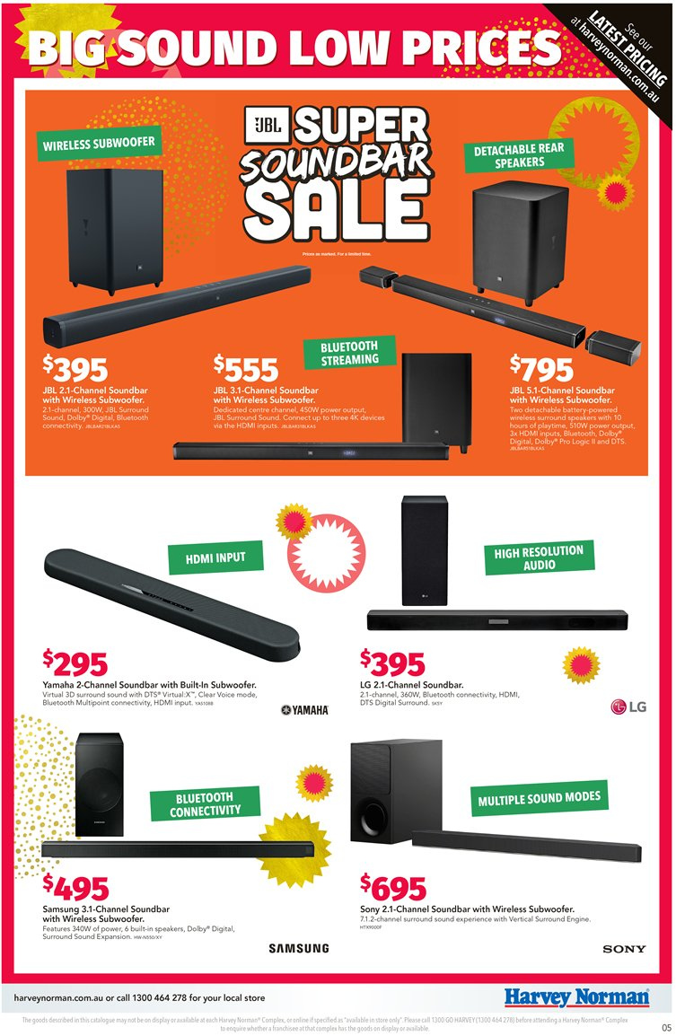 Harvey Norman catalogue  - 7.12.2018 - 24.12.2018. Page 5.